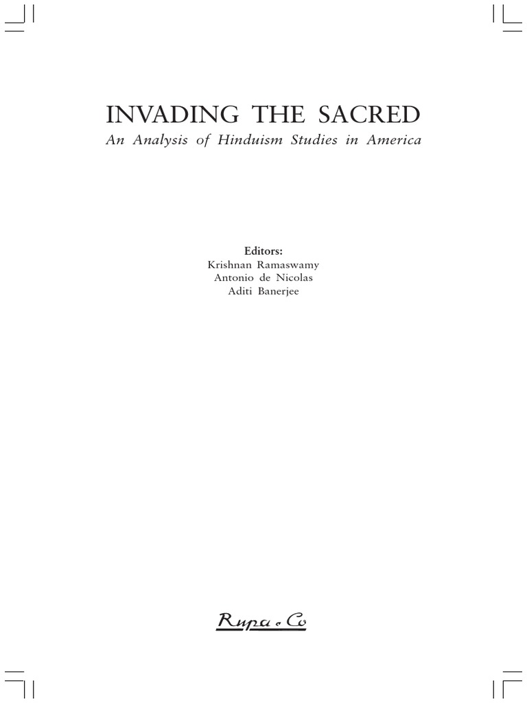 Invading The Sacred Final   Religious Education   Religion And ...