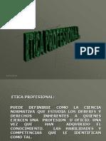 Etica Profesional Presentacion