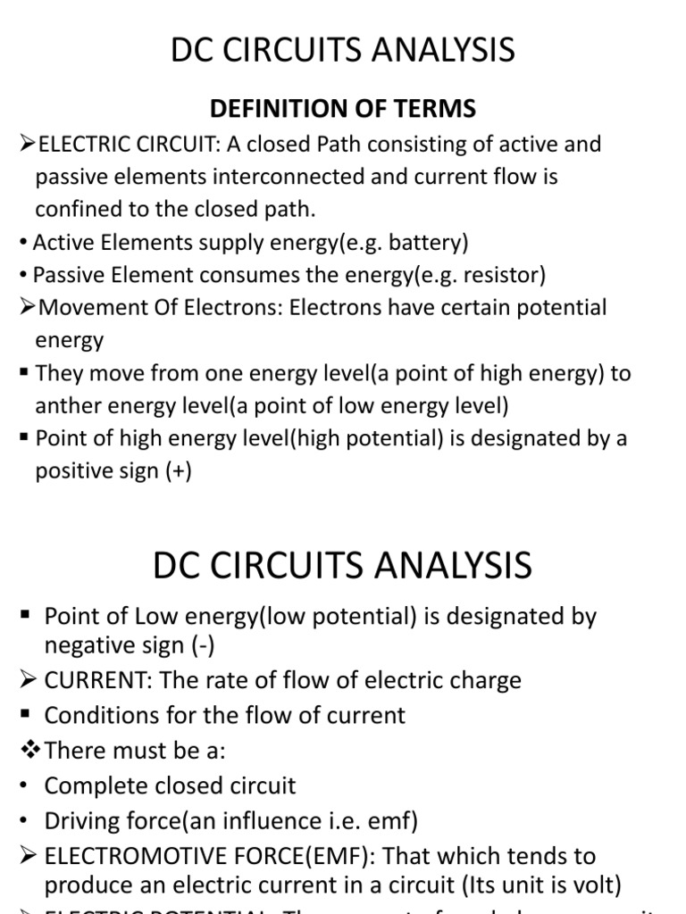 1002  Dc Circuits Analysis 1 | Series And Parallel Circuits