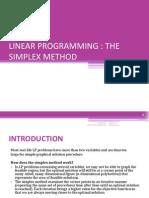 LINEAR PROGRAMMING - SIMPLEX