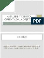 Clase 3 Análisis y diseño orientada a objetos