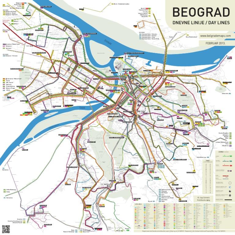 25 maj beograd mapa Beograd Dnevne Linije Velika Mapa Map of belgrade Public transport  25 maj beograd mapa