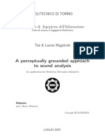A Perceptually Grounded Approach to Sound Analysis