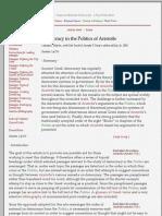 Democracy in the Politics of Aristotle