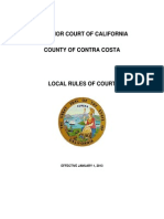 Contra Costa Local Rules 2013