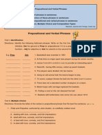 Prepositional and Verbal Phrases Worksheet
