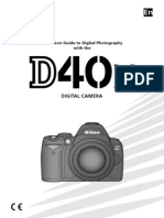 D40X nikon user manual english