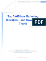 Affiliate Marketing Mistakes Top 5