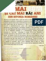 Cei Mai BUNI Si Cei Mai Rai Ani Din Istoria Romaniei