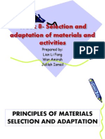 Principles of Materials Adaptation