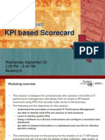 Design Your Own KPI Based Scorecard