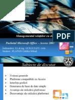 Managementul relațiilor cu clienții  Microsoft Acces 2007