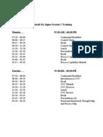 Agenda Session 2