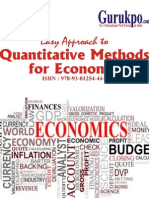 Quantitative Methods for Economic