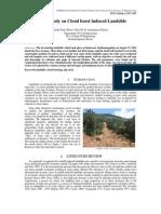A Case Study on Cloud burst induced Landslide