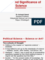 1. Nature & Significance of Pol. Science
