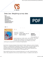 Use Data Weighting Survey Data