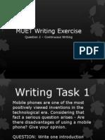 MUET Writing Exercises