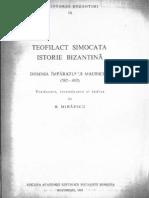Simocata Istorie Bizantina Extrase