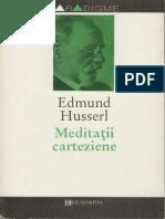 Edmund Husserl Meditatii Carteziene