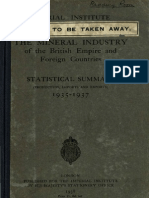 The Mineral Industry of the British Empire and Foreign Countries - StatisticalSummary1935 - 1937