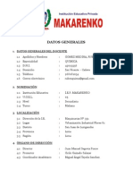DATOS GENERALES DE LA INSTITUCIÓN EDUCATIVA 2013
