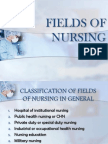 Fields of Nursing