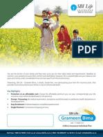 GrameenBima Brochure SBI Life Insurance