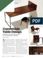 Convertible Table Design