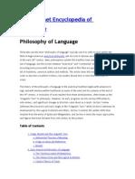 Philosophy of Language - Iep