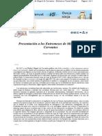 Zamora Presentacion Entremeses Cervantes