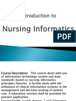 Introduction to Nursing Informatics