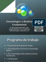 2012 CSLG Deontologia y Bioetica 01 Introduccion General