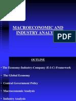 Macroeconomic and Industry Analysis