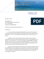 BTA Attorney's Letter to Benzie Bd Attorney Re OMA Violations - 02-13-14