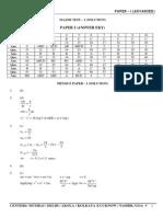 MAJOR TEST – 2 _ADVANCED_ PAPER – I _SOLUTION_