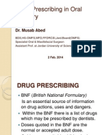 Drug Prescribing in Oral Surgery