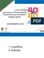 Política Educativa 40x40