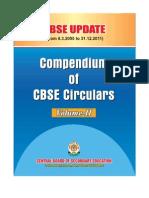 CBSE Update(Compendium of CBSE Circulars)Vol-II