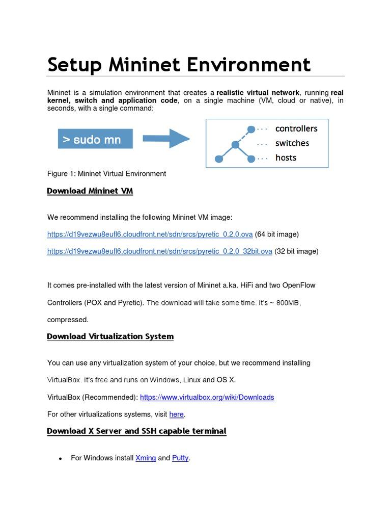 Mininet on Coursera | Virtual Machine | Ip Address