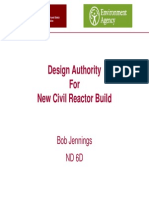 Design Authority for New Civil Reactor Build