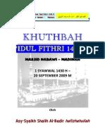 Khutbah Idul Fitri_Madinah
