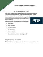 Models of Professional Correspondence