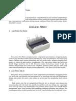 Jenis Dan Cara Kerja Printer