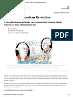 Ferling - Myths of the American Revolution (Smithsonian Magazine, 2010)