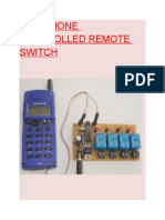 Telephone Controlled Switch
