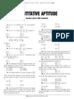 MATHS Quantitative Aptitude