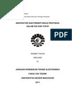Arsitektur Dan Prinsip Kerja Protokol Dalam OSI Dan TCPIP