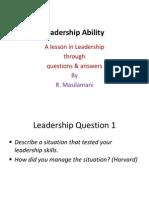 Abilities of Leaders