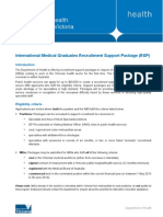 IMG Recruitment Support Package Guidelines 2013-14